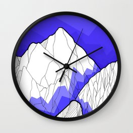 The Deep Blue Hills Wall Clock