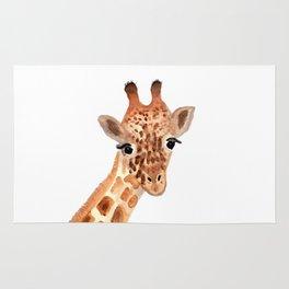 Watercolor Giraffe Rug