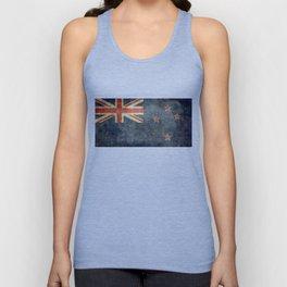 New Zealand Flag - Grungy retro style Unisex Tank Top