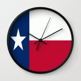 Lone Star ⭐ Texas State Flag Wall Clock