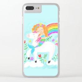 Unicorns, Mermaids & Rainbows...Oh My! Clear iPhone Case