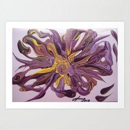 In purple 21 Art Print
