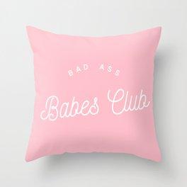 BADASS BABES CLUB PINK Throw Pillow
