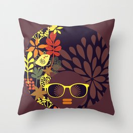 Afro Diva : Sophisticated Lady Deep Throw Pillow