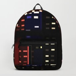 City Reflections at night Backpack