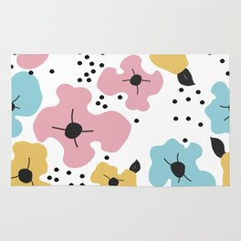 Abstract fowers Rug