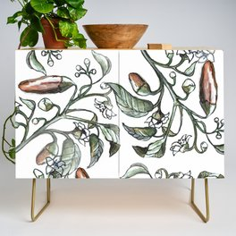 Hot Peppers Botanical Drawing Credenza