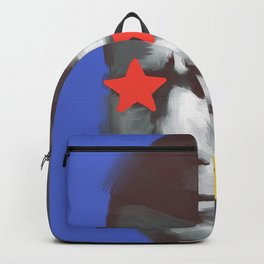 Komunist Tito, POP art style, digitally painted Backpack