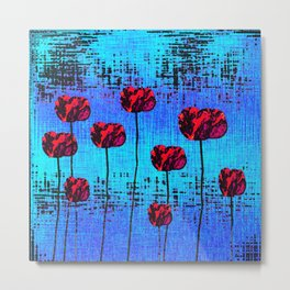 Street Art Pop Poppies Metal Print
