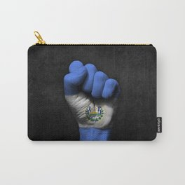 Salvadorian Flag on a Raised Clenched Fist Carry-All Pouch