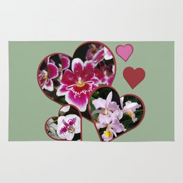 Hearts and Orchids Rug