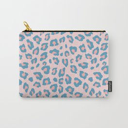 Leopard Print - Peachy Blue Carry-All Pouch