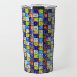 Multicolored Patchwork Travel Mug