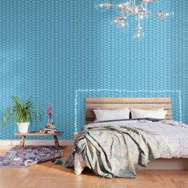 Blue Hearts Pattern Wallpaper