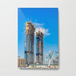 Dubai, A Construction Of Madness Metal Print