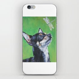 Chihuahua dog art portrait from an original painting by L.A.Shepard iPhone Skin