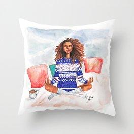 Holiday Zen Throw Pillow