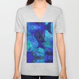 Violet Blue - Abstract Art By Sharon Cummings Unisex V-Neck