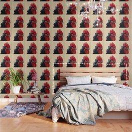 Rooster in Gouache Wallpaper