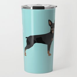 min pin miniature doberman pinscher farting dog cute funny dog gifts pure breed dogs Travel Mug