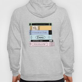 Jane Austen Book Stack in Colour Hoody