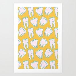 Teeth Pattern Art Print