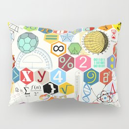 Math in color (white Background) Pillow Sham