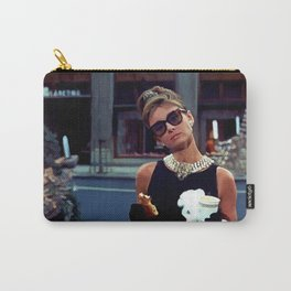 Audrey Hepburn #3 @ Breakfast at Tiffany's Carry-All Pouch