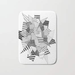abstract crystal Bath Mat