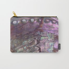 Shimmery Lavender Abalone Mother of Pearl Carry-All Pouch