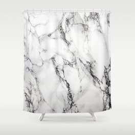 White Marble Texture Shower Curtain