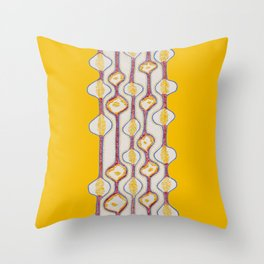 Stitches - Growing bubbles Throw Pillow