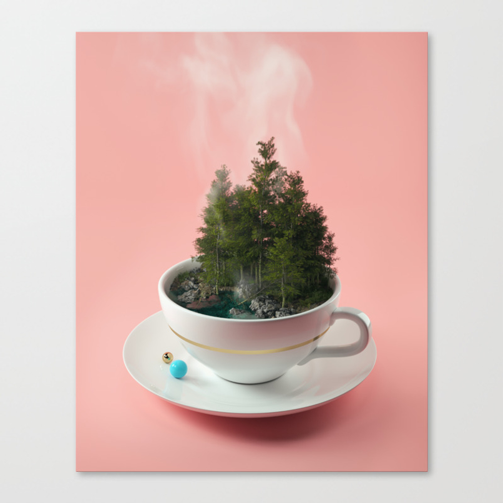 Hot Cup Of Tree Canvas Print by Filiphodas CNV6125704