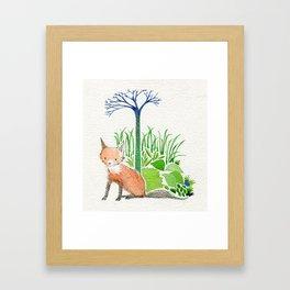 woodland fox Framed Art Print