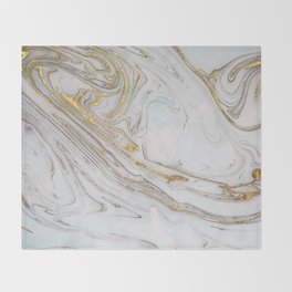 Gorgeous Gold and Marble Print Throw Blanket