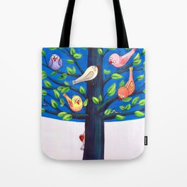 Birdy Tree Tote Bag