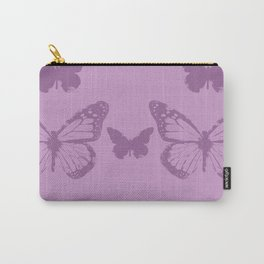violet batterfly Carry-All Pouch