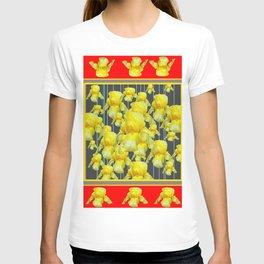CLASSY RED-GREY YELLOW IRIS ABUNDANCE T-shirt