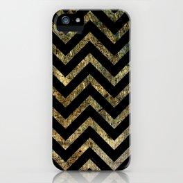 Brass Chevrons iPhone Case