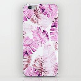 Pastel Monstera pattern iPhone Skin