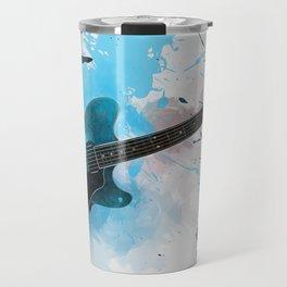Electric Blue Guitar Travel Mug