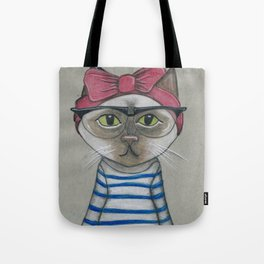 Hip Cat - Girl Tote Bag