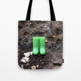 Wellies in the dirt Tote Bag