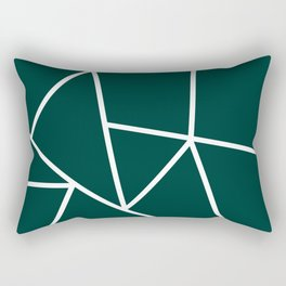 Evergreen Mountain Lines Rectangular Pillow
