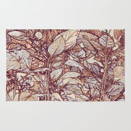 abstract camouflage leaves Rug