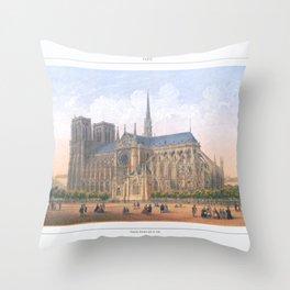 Paris Wall Art french antique Paris Bedroom Decor Paris art print Paris Decor office decoration vint Throw Pillow