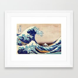 Katsushika Hokusai The Great Wave Off Kanagawa Framed Art Print