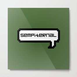 Sempiternal - Green Metal Print