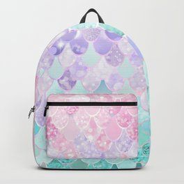 Mermaid Pastel Iridescent Backpack