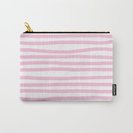 Pink Stripes Horizontal Carry-All Pouch